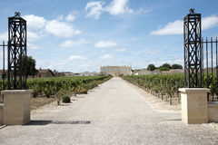 French Chateau and vines in St Julien Stock Images