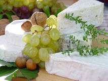 French cheese. Cheese board Stock Photo