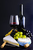 French Cheese And Wine Royalty Free Stock Image