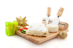 French cheese with christmas Royalty Free Stock Photos