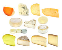French cheese collection Royalty Free Stock Photos