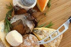 French Cheese composition Stock Photos