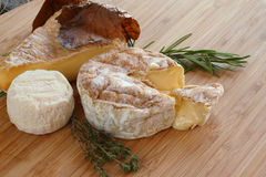 French Cheese composition Royalty Free Stock Photo