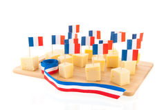 French cheese cubes Royalty Free Stock Photos