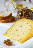 French cheese with cumin Stock Image