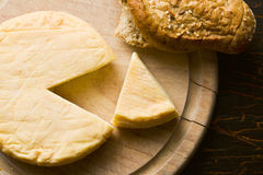 French cheese on cutting board Stock Image