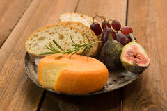 French cheese with figs Stock Images