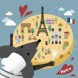 French cheese map Royalty Free Stock Photos