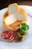 French cheese plate Stock Photography
