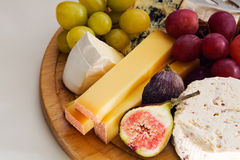 French Cheese plateau Royalty Free Stock Photo