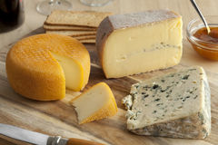 French cheese platter Royalty Free Stock Images