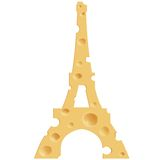 French cheese. Realistic cheese in the shape of the Eiffel Tower.  Isolated background Stock Photos