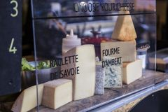French Cheese selection royalty free stock photography