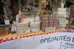French cheese street shop. Montmartre. Paris Royalty Free Stock Images
