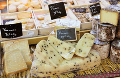 French cheese to sell Royalty Free Stock Photos