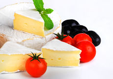 French Cheese with Tomatoes Royalty Free Stock Photos