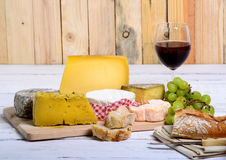 French cheese tray Royalty Free Stock Images
