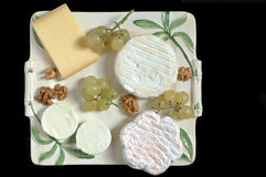 French cheeseboard (overview) Stock Photos