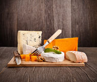 French cheeses Stock Photos