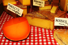 French cheeses market. French cheeses on the market Stock Images