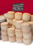 French cheeses, sheep Tomme. Royalty Free Stock Images