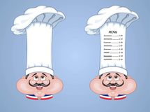 French Chef Hat Menu for showcase Stock Photos