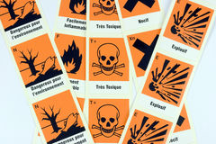 French Chemical Danger Symbols Stock Images