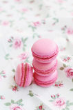 French cherry macaroon dessert Stock Photo