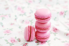 French cherry macaroon dessert Stock Photography