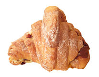 French chocolate croissant. Stock Photos