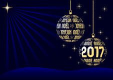 French christmas and new year 2017 background Stock Photo