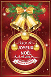 French Christmas and New Year business greeting card Royalty Free Stock Images