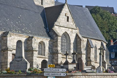 French church in Normandy France from 15th century Royalty Free Stock Image