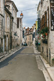 French city Chablis. French city of Chablis, view of the street. July 23, 2017 stock photos