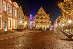 French city Colmar on Christmas Eve. Royalty Free Stock Photography