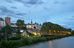 The French city Pau at sunset Royalty Free Stock Images