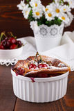 French clafoutis with cherry Stock Photography