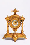 French Clock. 19th century gold gilt French clock Stock Photography