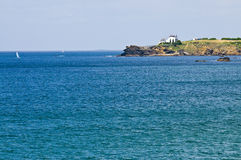 French coast. View of the Brittany coast, West of France Stock Images