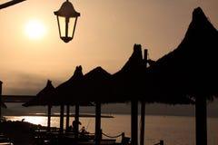 French coast sunrise royalty free stock photography
