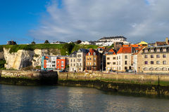 French coast village Dieppe Royalty Free Stock Photography