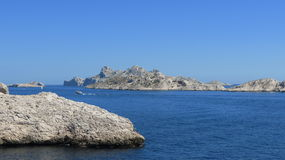 French Coastline. Coastline near Marseilles in southern France on the Mediterranean Sea Royalty Free Stock Image