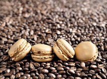 French Coffee Macarons Stock Images