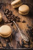 French coffee macarons Stock Photos