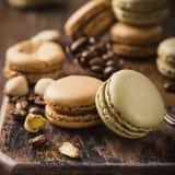 French coffee macarons Stock Photo