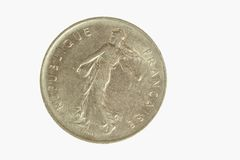 French Coin 1. Photo of a French Coin stock photo