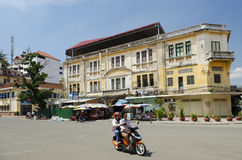 French colonial building in phnom penh cambodia Stock Photo