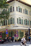 French colonial building in Saigon Royalty Free Stock Photo