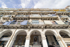 French colonial buildings in Algiers Algeria.Buildings are being renovated by Algerian government. Stock Photography