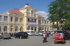 Colonial post office building in Phnom Penh Royalty Free Stock Photography